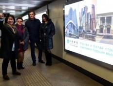 莫斯科地铁的一道中国风景